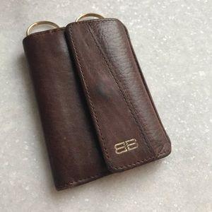 Balenciaga leather cardholder/mini wallet/key ring